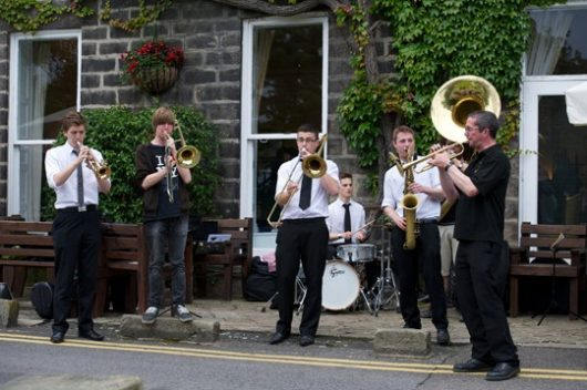 A jazz welcome for writers at the Old Swan in Harrogate. Photo ©TimCook