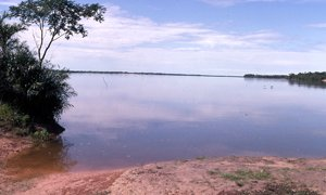The vast and placid Araguaia river.