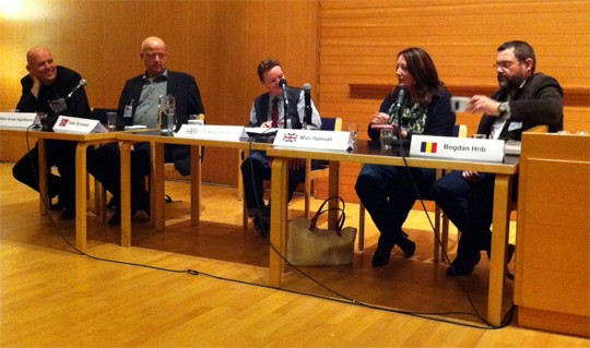 Left to right: Viktor Arnar Ingolfsson, Vidar Sunstol, Jackie Collins, Mari Hannah and Bogdan Hrib.