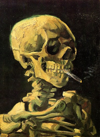 Skull With Burning Cigarette by Vincent Van Gogh 1885