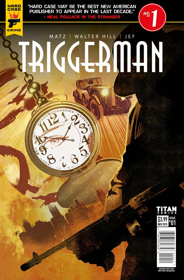 Dennis Calero, Triggerman issue 1 artwork