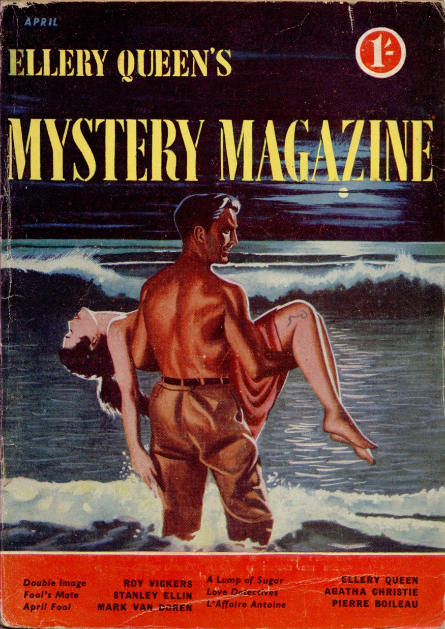 pulp, Crime Fiction Lover, Ellery Queen's Mystery Magazine April 1954, Agatha Christie