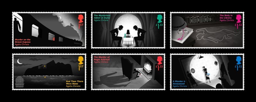 Agatha Christie Stamps Full Of Clues Crime Fiction Lover